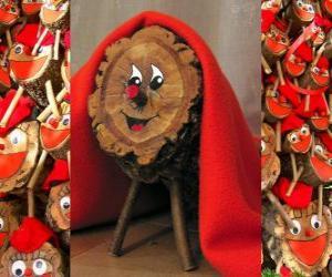 Układanka Tió de Nadal (Świąteczne kłoda), kataloński, prowansalski i Alto Aragon tradycji