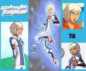 Układanka Tia jest graczem numer 4 drużyny Snow Kids, jest jedynym zespołem, który początkowo ma ducha