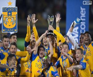 Układanka Tigres UANL, mistrz Meksyku 2015