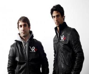 Układanka Timo Glock i Lucas di Grassi, pilotów Virgin Racing Scuderia