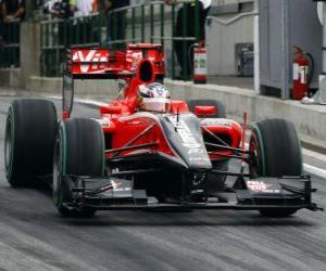 Układanka Timo Glock - Virgin - 2010 Grand Prix Węgier
