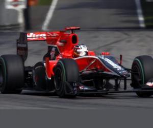 Układanka Timo Glock - Virgin - Monza 2010