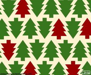 Układanka Tle drzewa Bożego Narodzenia