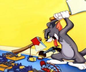 Układanka Tom próbował złapać mysz Jerry