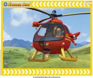 Układanka Tom Thomas z jego Wallaby One helikopter