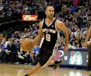 Układanka Tony Parker gra w koszykówkę