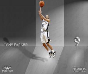 Układanka Tony Parker idzie na slam dunk