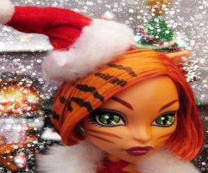 Układanka Toralei Stripe z Santa Claus kapelusz