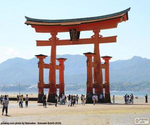 Układanka Torii Itsukushima Jinja, Japonia