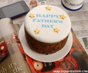 Układanka Tort dzień ojca z gwiazdami