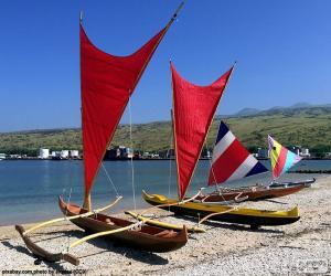 Układanka Tradycyjne kanu, Pacific