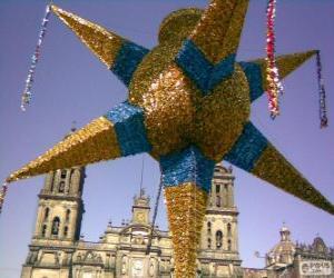 Układanka Tradycyjne Piniata w Meksyku na Boże Narodzenie, dziewięć-gwiazda, Gwiazda Betlejemska