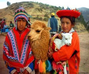 Układanka Tradycyjne stroje Inków
