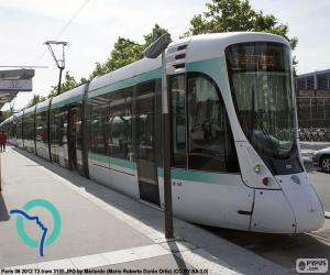 Układanka Tramwaj w Île-de-France (Paryż)