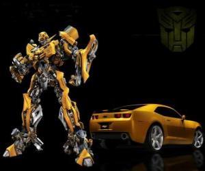 Układanka Transformers, samochód i robota, w którym przekształca