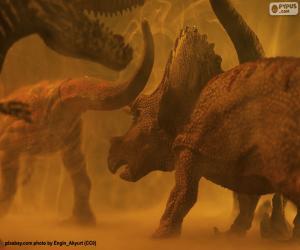 Układanka Triceratops i dinozaur