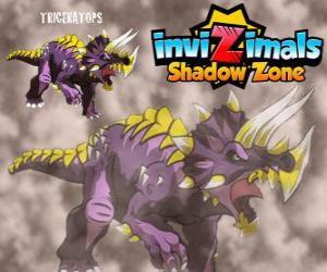 Układanka Triceratops. Invizimals Następny wymiar. Roślinożerne Invizimals z dużą siłę i odwagę
