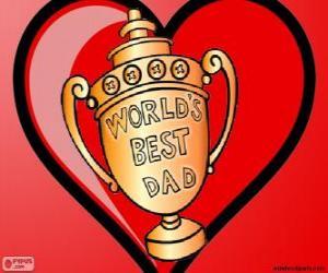 Układanka Trofeum lub puchar dla najlepszego taty