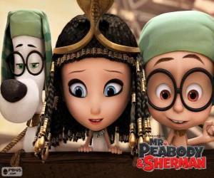 Układanka Trzech bohaterów filmu Pan Peabody i Sherman