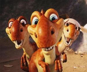 Układanka Trzech małych dinozaurów