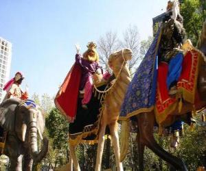 Układanka Trzej Mędrcy jazda wielbłądami