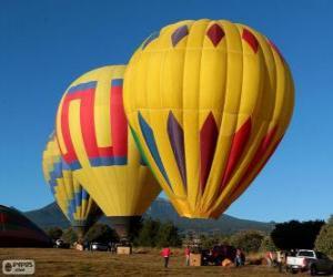 Układanka Trzy balony gotowy do lotu