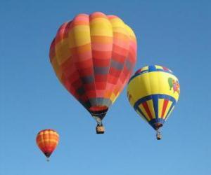 Układanka Trzy balony