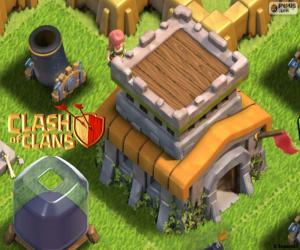Układanka Trzy budynki, Clash of Clans