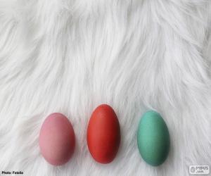 Układanka Trzy jaja malowane