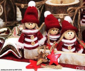 Układanka Trzy lalki Bożego Narodzenia