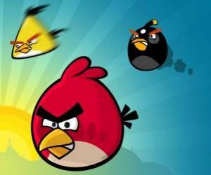 Układanka Trzy ptaki z Angry Birds