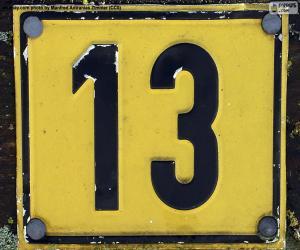 Układanka Trzynaście numer
