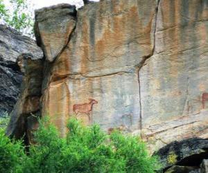 Układanka Tsodilo, pustyni Kalahari w Botswanie