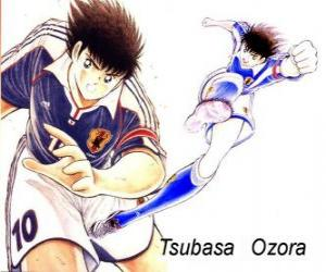 Układanka Tsubasa Ozora jest Captain Tsubasa, kapitan japońskiej drużyny piłkarskiej