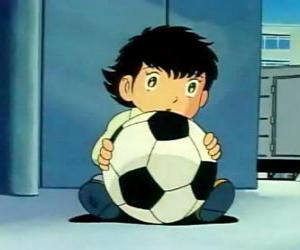 Układanka Tsubasa Ozora, Oliver Hutton, japoński dziecko, że jest wielkim fanem piłki nożnej
