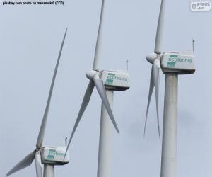 Układanka Turbiny wiatrowe