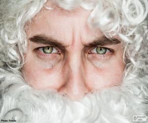 Układanka Twarz Świętego Mikołaja