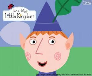 Układanka Twarz Ben Elf i trójkątny kapelusz z liści dębu