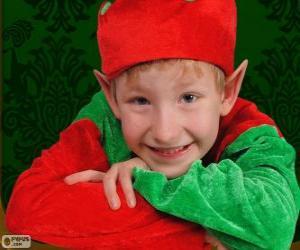 Układanka Twarz elfa Boże Narodzenie
