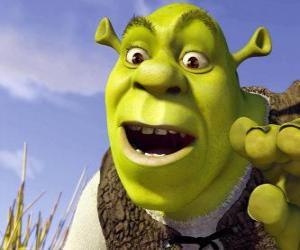 Układanka Twarz Shrek, Wilkołak szczęśliwi i uśmiechnięci