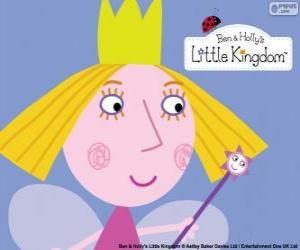 Układanka Twarz trochę bajki, Holly księżniczkę z jej korony