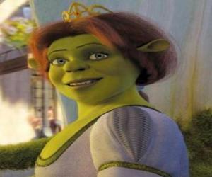 Układanka Twarz uśmiechnięta księżniczka Fiona
