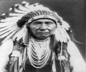 Układanka Twarz wodza Indian