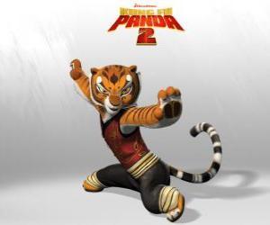 Układanka Tygrysica jest najsilniejszy i najdzielniejszy z mistrzów Kung Fu.