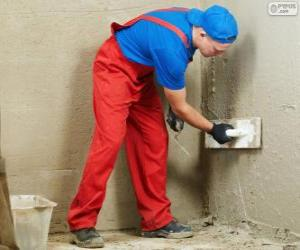 Układanka Tynkarz praca na okładziny ścienne