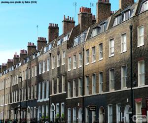 Układanka Typowe domy Londyn