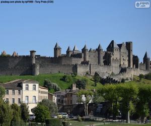 Układanka Ufortyfikowanego miasta Carcassonne, Francja