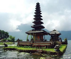 Układanka Ulun Danu Batur świątyni
