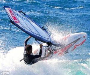 Układanka Uprawiania windsurfing