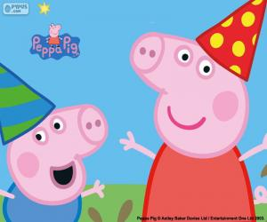 Układanka Urodziny Peppa Pig